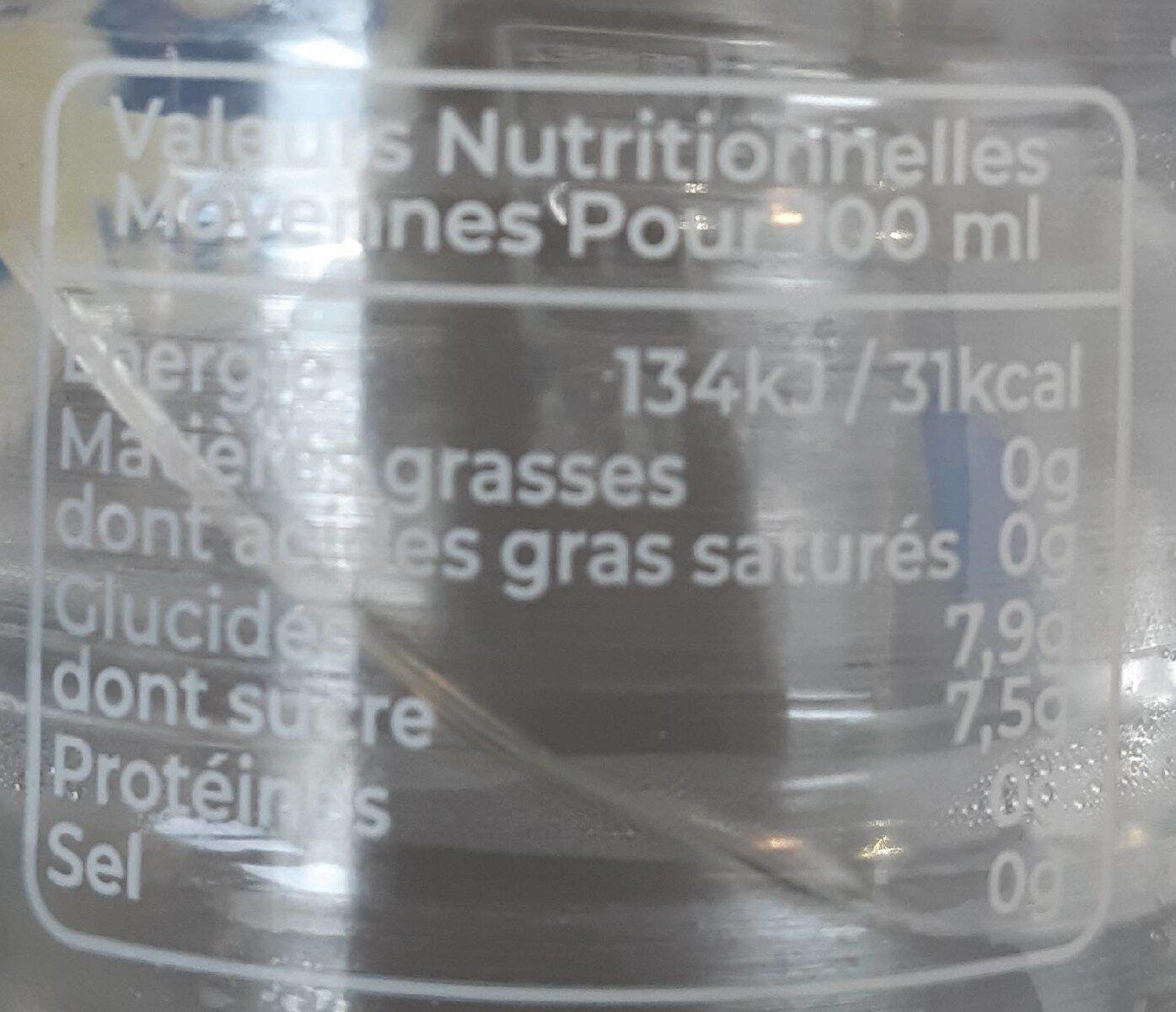 Cot Citron - Informations nutritionnelles