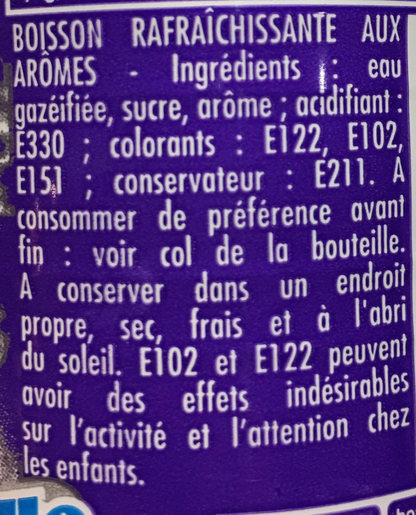 Frutallo - Ingrédients - fr