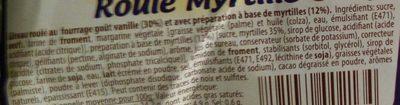 Roulé Myrtille - Ingrédients