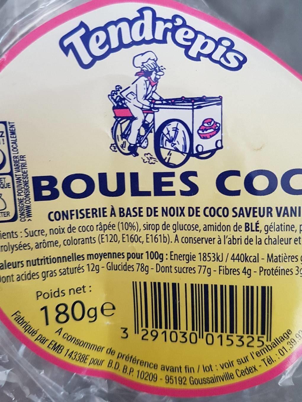 Boules coco - Produit - fr
