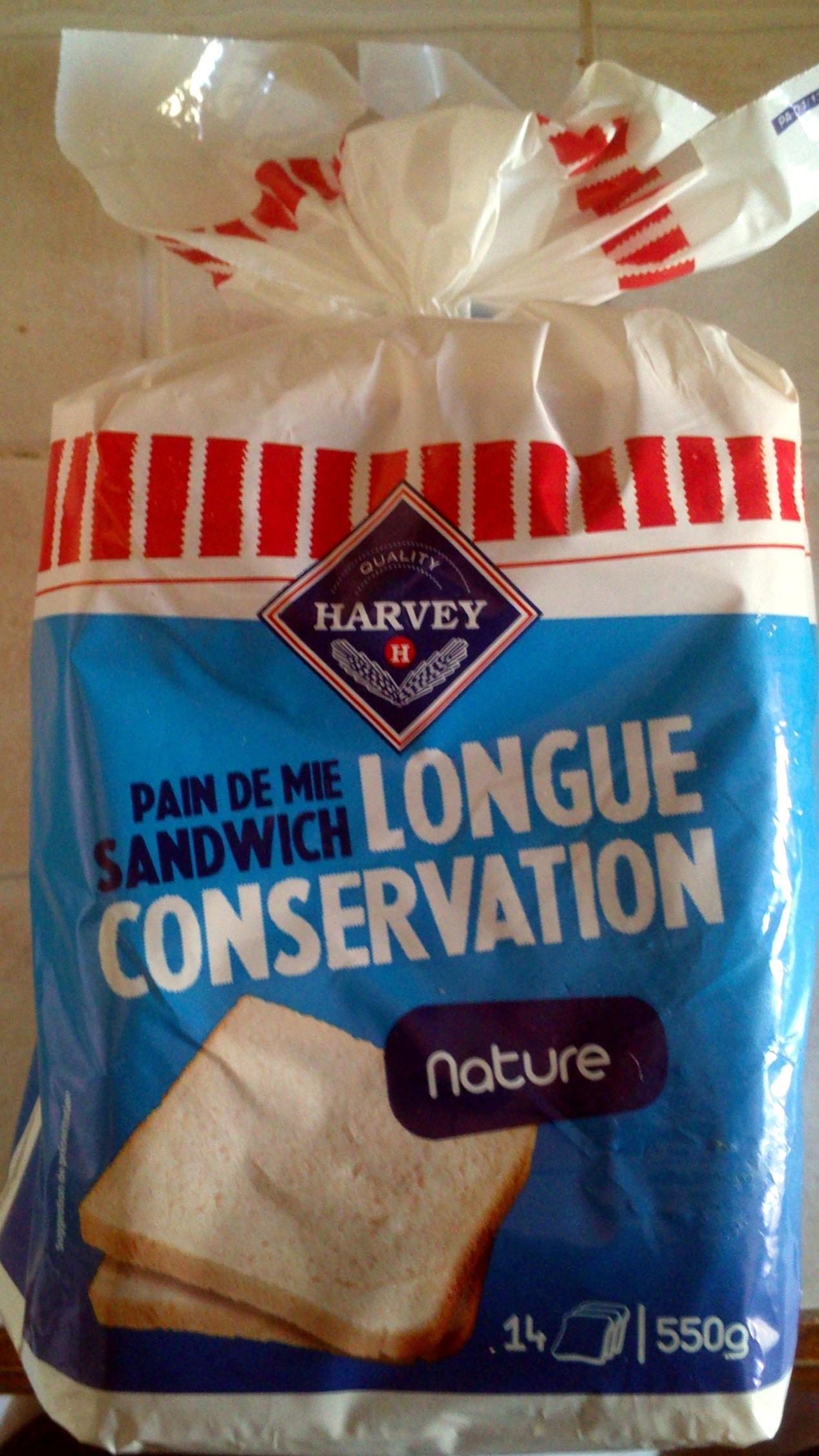 Pain de Mie Sandwich nature Longue Conservation (14 tranches) - Product - fr