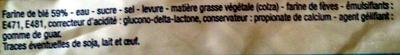 Pain de Mie Sandwich nature Longue Conservation (14 tranches) - Ingrediënten - fr