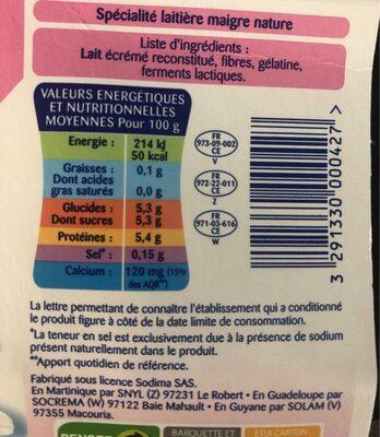 Silhouette nature 0% - Informations nutritionnelles - fr