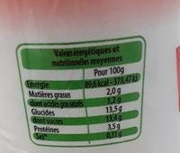 Yaourt a boire fraise - Voedingswaarden - fr