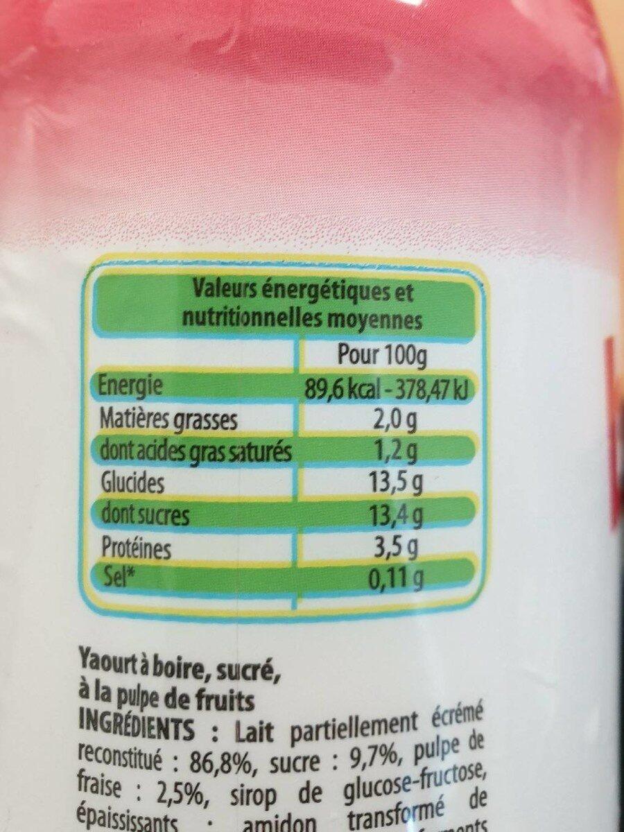 Yaourt a boire fraise - Informations nutritionnelles - fr
