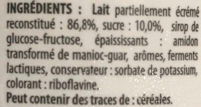 Yaourt a boire saveur vanille - Ingrediënten - fr