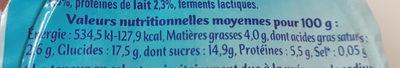 Petit Filous Fraise / Abricot 60gx8 - Valori nutrizionali - fr