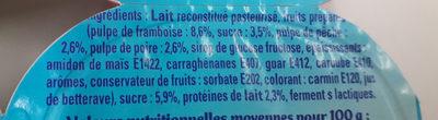 Petits Filous framboise pêche poire - Ingrédients - fr