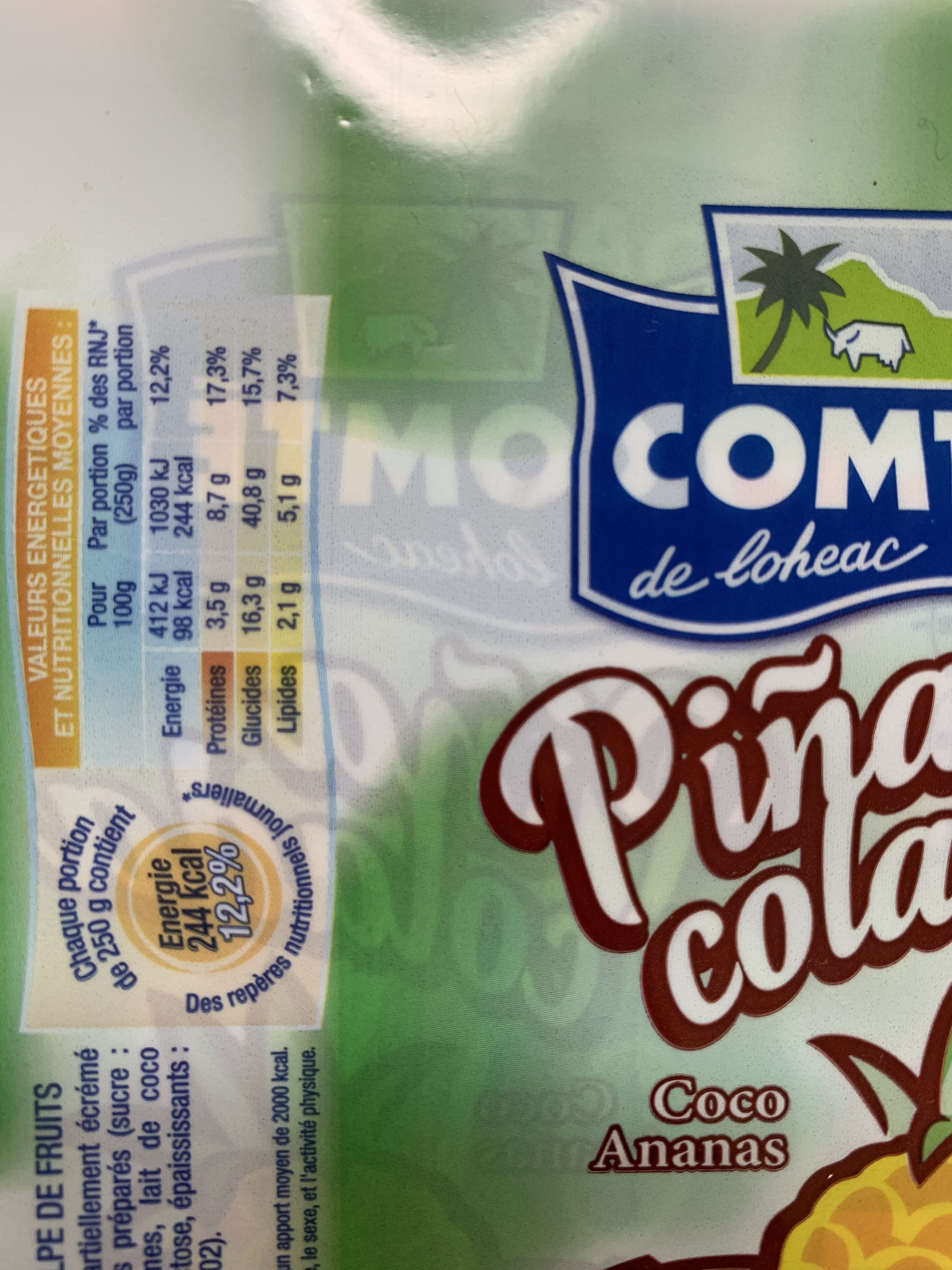Yaourt à boire ananas coco Piñacolada - Product - fr