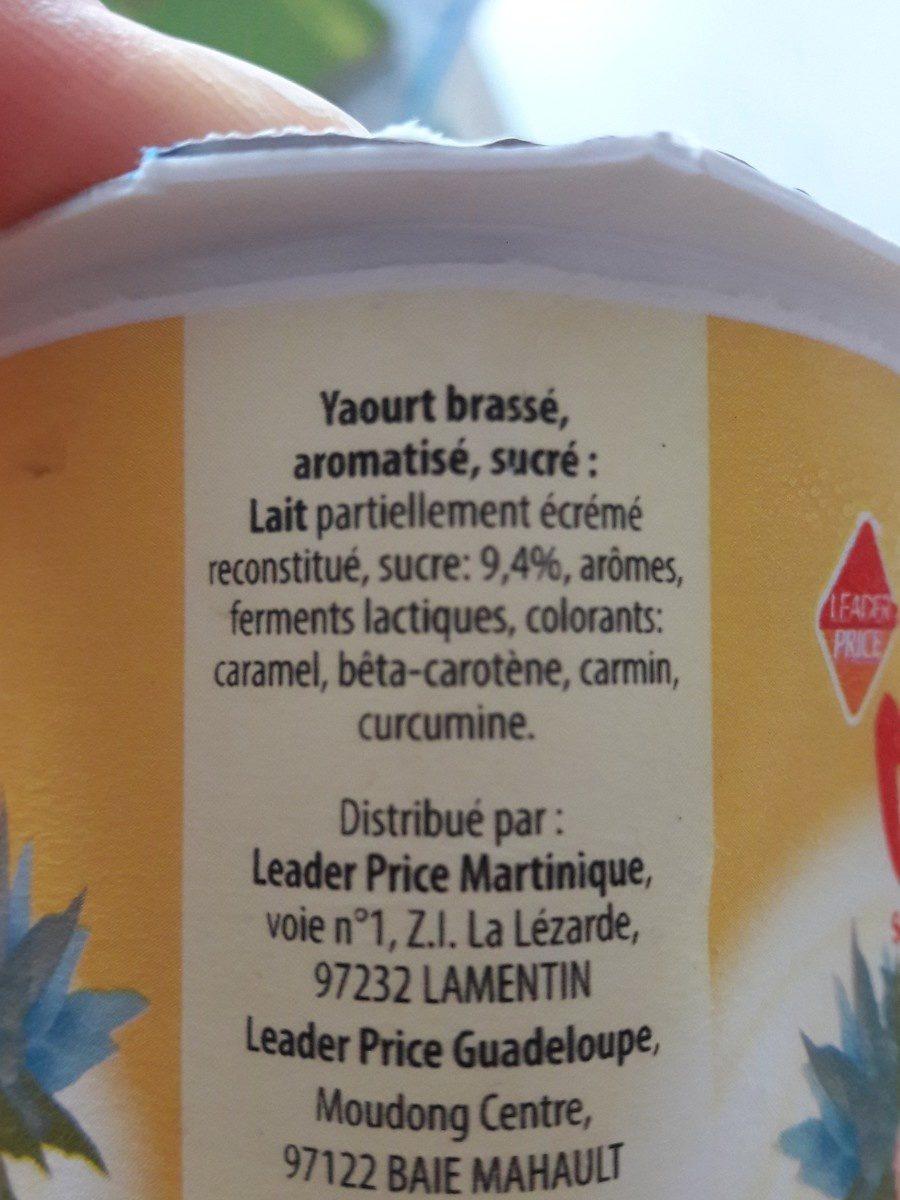 Yaourt mixé - Ingredients