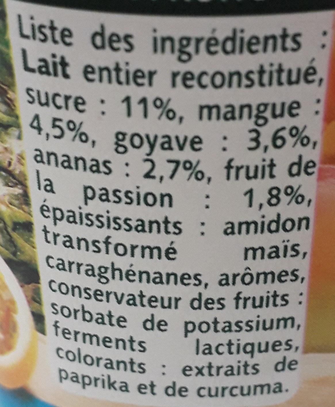 Panier tropical - Ingrédients - fr
