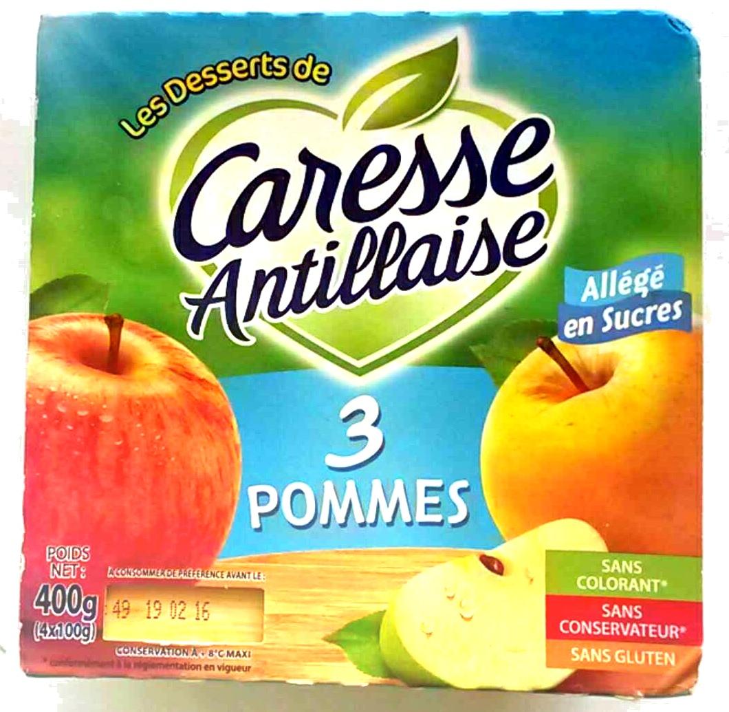 Compote 3 pommes - Produit - fr