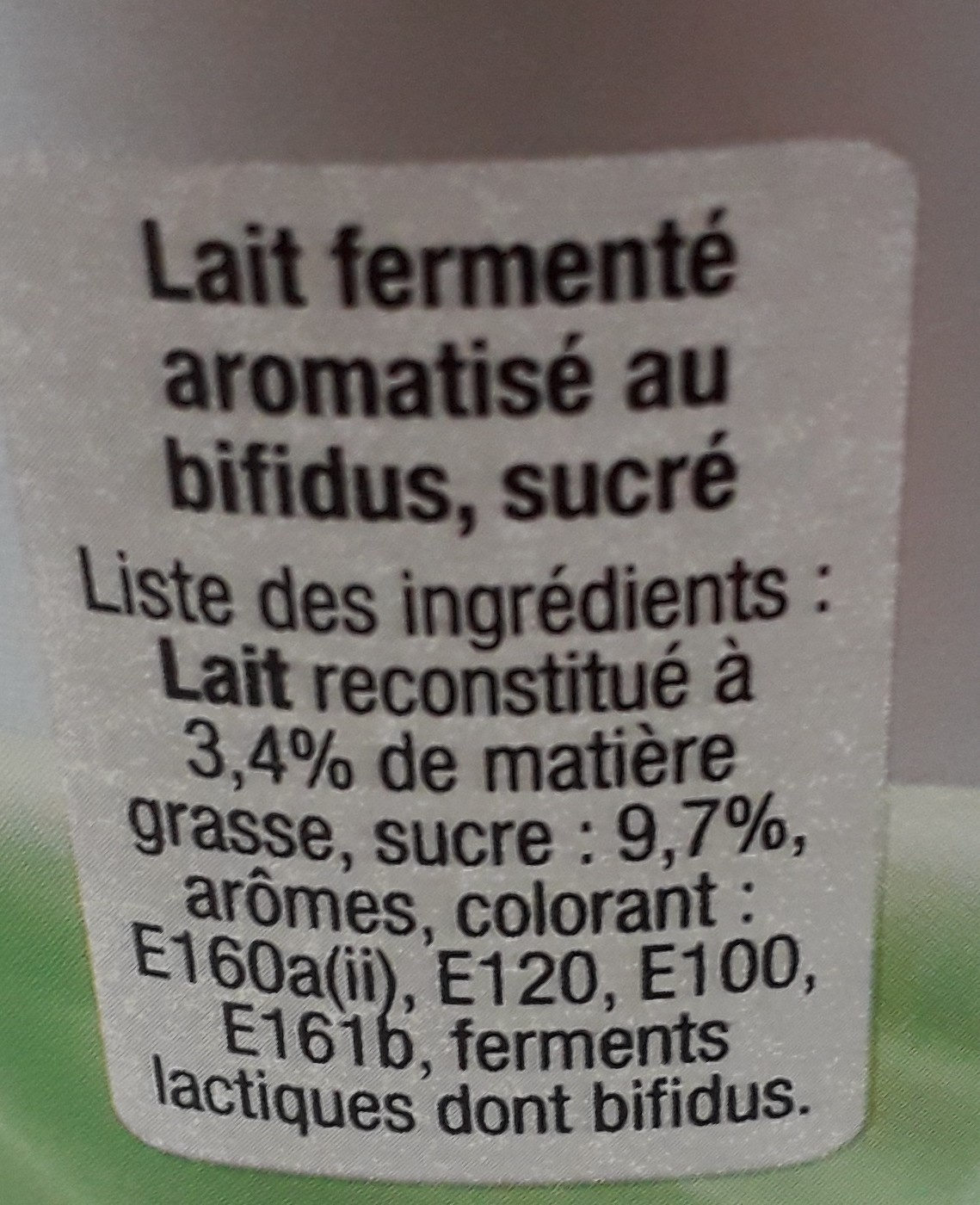 b de yoplait fruits jaunes - Ingredients