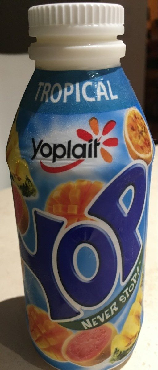 Yaourts à boire à la pulpe de fruits Yop tropical - Product - fr