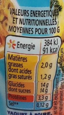 Yaourts à boire à la pulpe de fruits Yop tropical - Voedingswaarden - fr