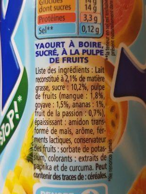 Yop tropical - Ingrediënten - fr