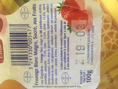 Calin - Ingredienti - fr