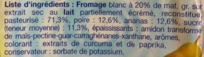 Calin Poire et Ananas - Ingredienti - fr