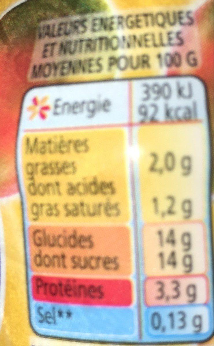 Yaourt à boire à la pulpe de mangue Yop mangue - Valori nutrizionali - fr