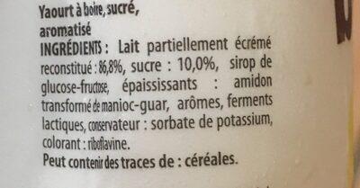 Yaourt a boire - Ingredienti - fr