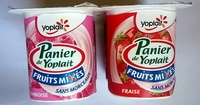 Panier de Yoplait - Fruits mixés - Fraise, Framboise, Cerise - Prodotto - fr