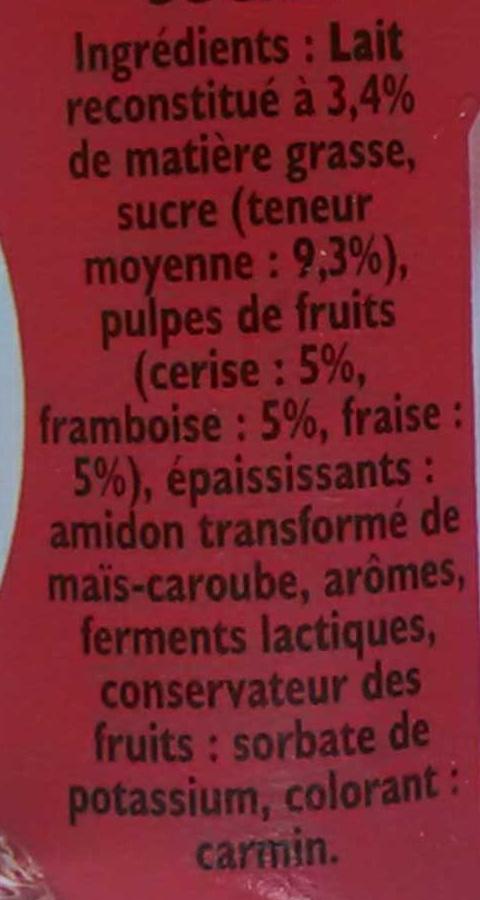Panier de Yoplait - Fruits mixés - Fraise, Framboise, Cerise - Ingredienti - fr