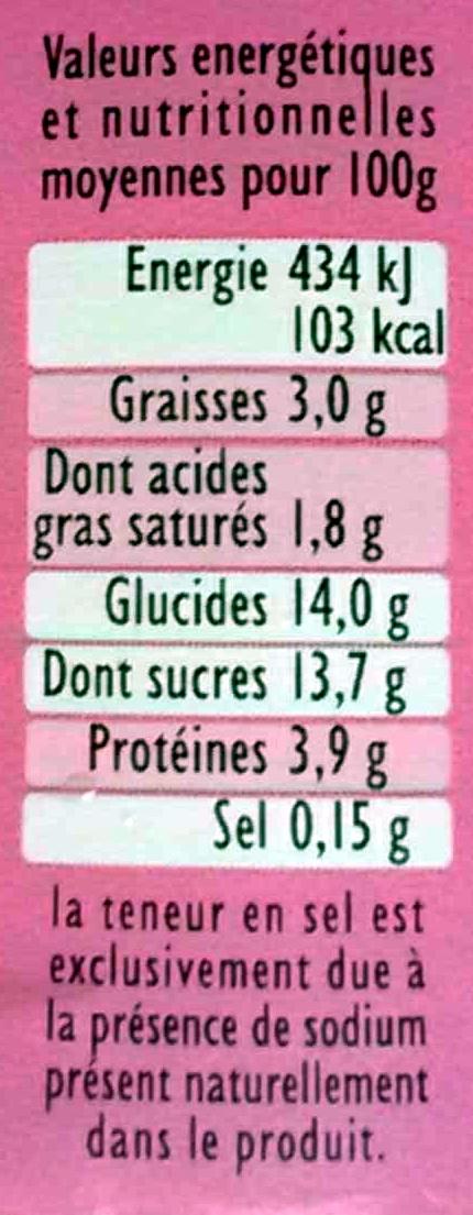 Panier de Yoplait - Fruits mixés - Fraise, Framboise, Cerise - Valori nutrizionali - fr