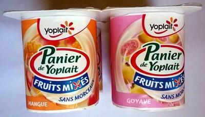 Panier de Yoplait - Fruits mixés - Goyave, Mangue, Abricot - Product - fr