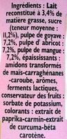 Panier de Yoplait - Fruits mixés - Goyave, Mangue, Abricot - Ingredients - fr