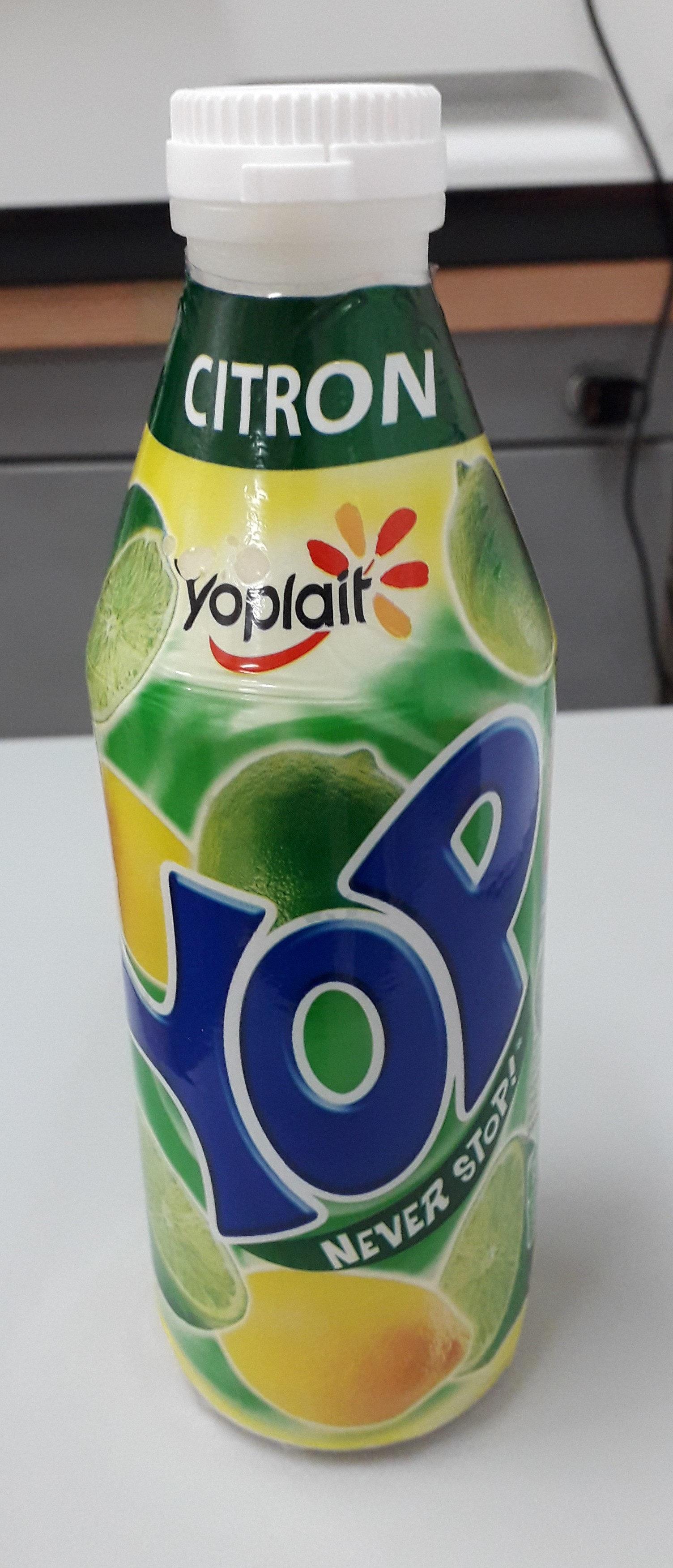 Yaourt à boire pulpe de citron YOP citron - Product - fr