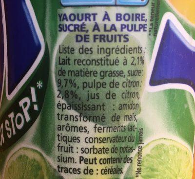 Yaourt à boire pulpe de citron YOP citron - Ingrediënten - fr