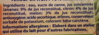 boisson méli melon - Ingredienti - fr
