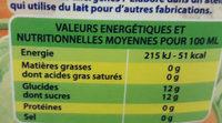 boisson méli melon - Valori nutrizionali - fr