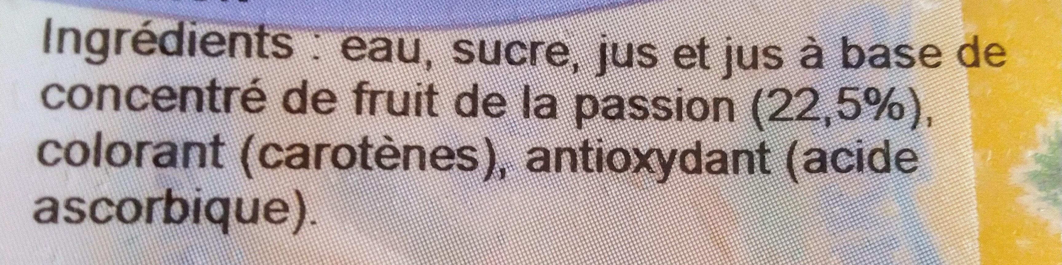 Fruisson - Ingredienti - fr