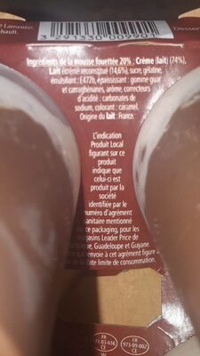 Liégeoise au chocolat - Ingrédients - fr