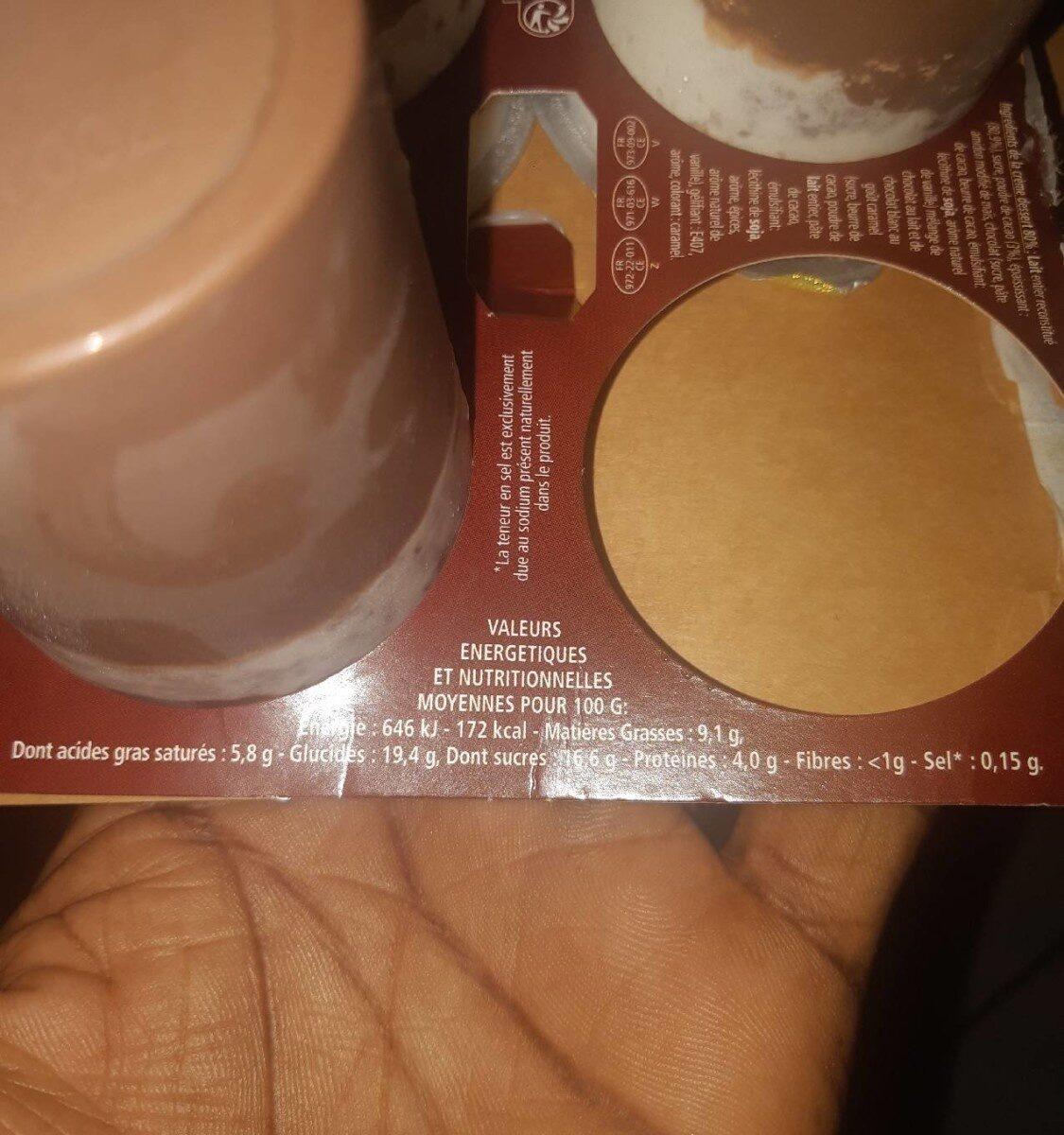 Liégeoise au chocolat - Informations nutritionnelles - fr