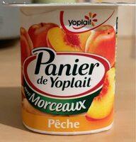 Panier de Yoplait avec Morceaux Pêche - Prodotto - fr
