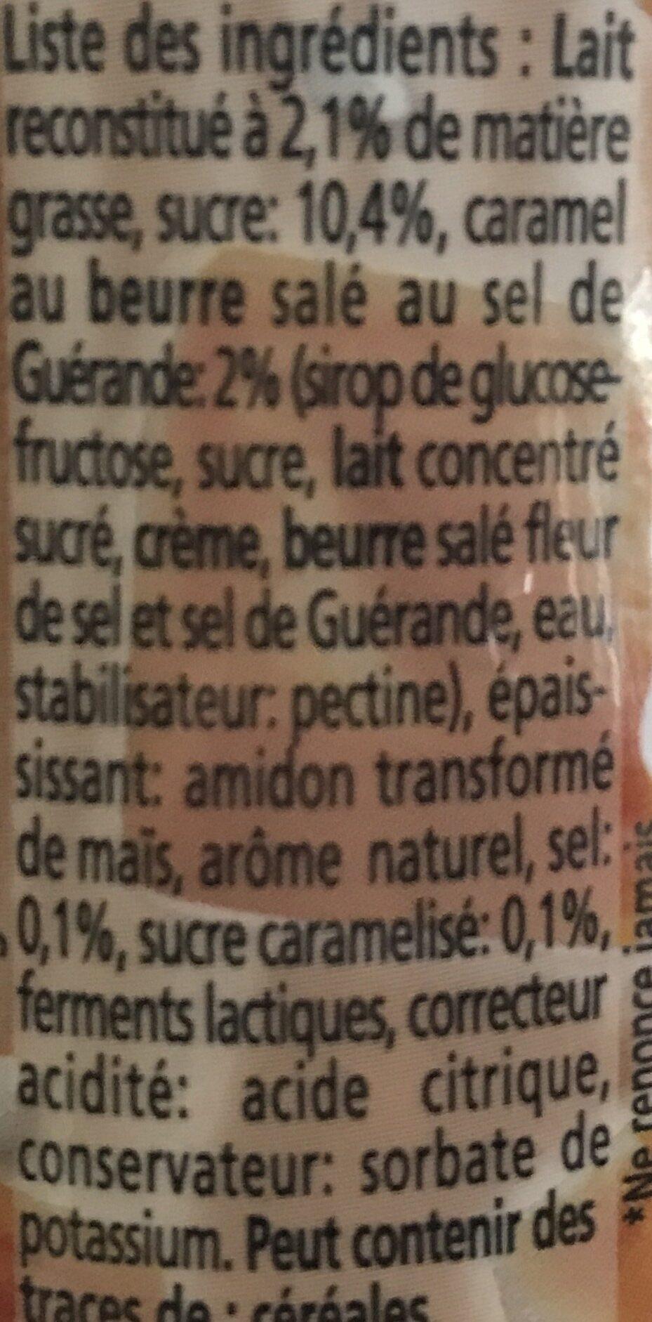 Caramel Beurre salé - Ingredienti - fr