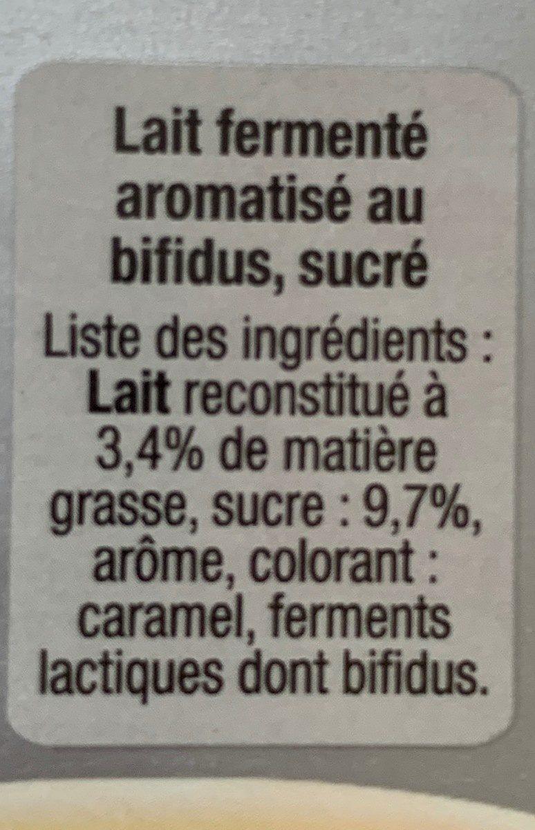 B de Yoplait vanille - Ingrédients - fr