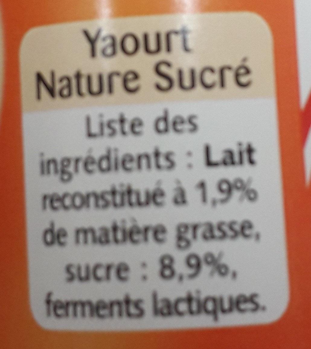 Yaourt sucré texture ferme - Ingredienti - fr