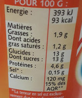 Yaourt sucré texture ferme - Valori nutrizionali - fr