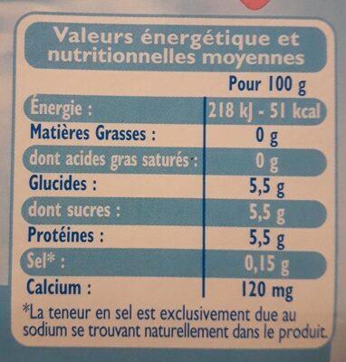 Brassé nature Fine Ligne - Informations nutritionnelles - fr