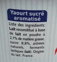 aromatisé vanille - Ingredienti - fr
