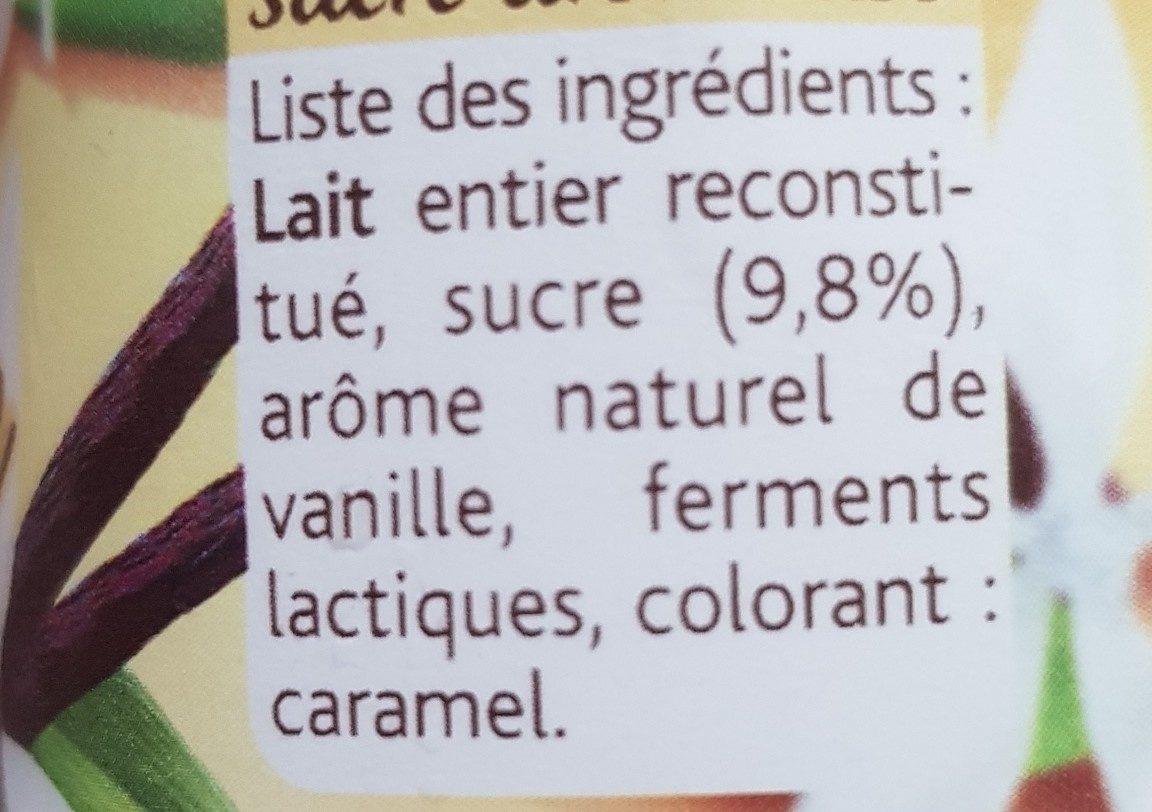 Yaourt Vanille Naturelle - Ingredienti - fr