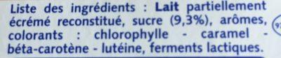 Yaourts Sucrés Aromatisés - Ingrédients - fr