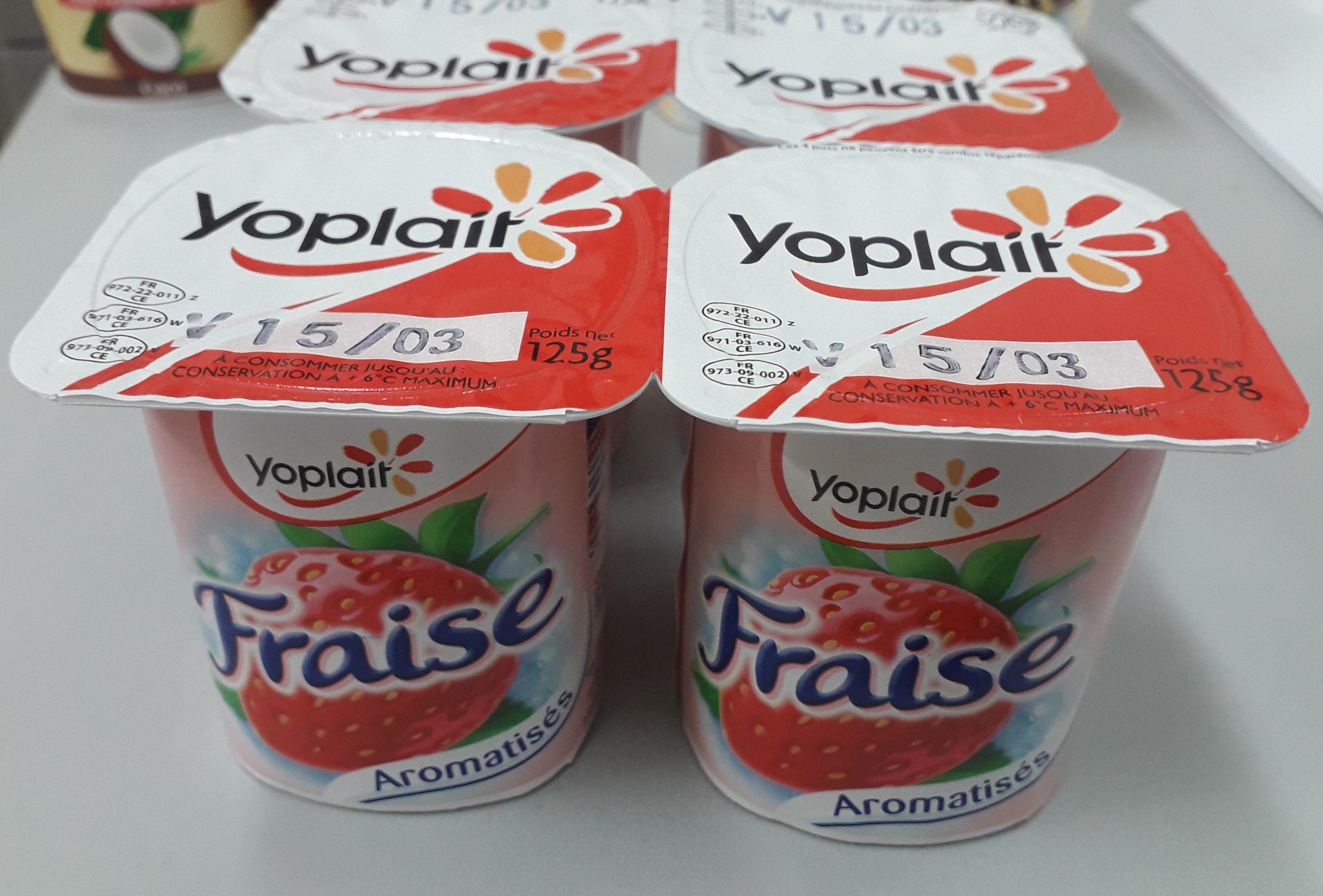 yaourt ferme aromatisé fraise - Product