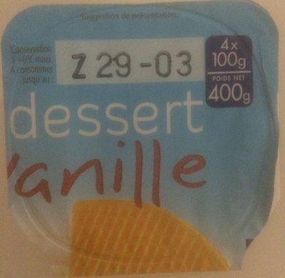 Dessert vanille - Produit - fr