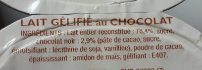 comté flan chocolat - Ingredienti - fr