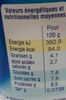 Caresse nature - Informations nutritionnelles - fr