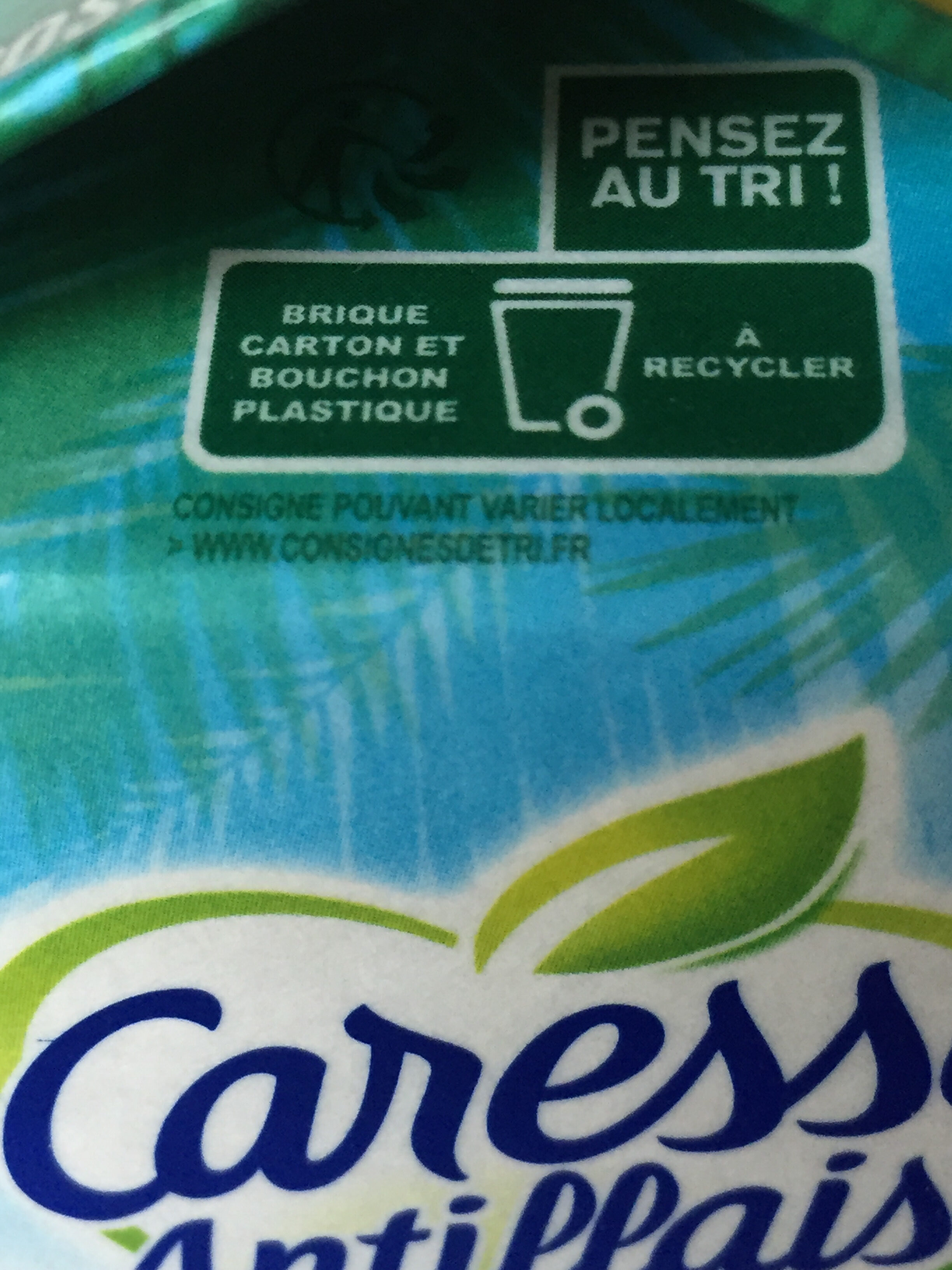 Caresse Antillaise  Goyave Rose - Instruction de recyclage et/ou informations d'emballage - fr
